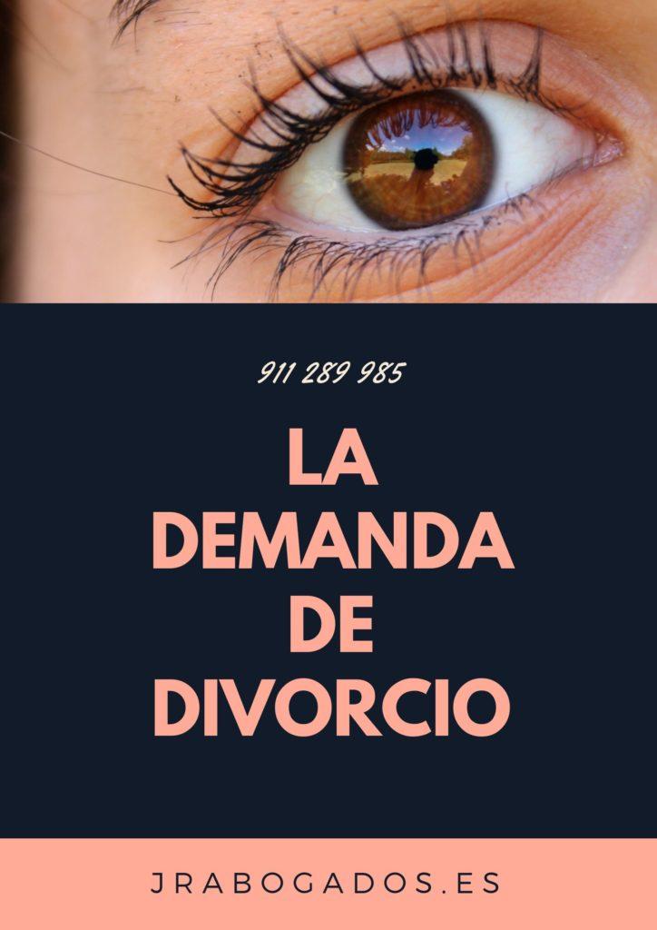 la demanda de divorcio