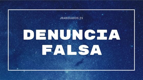 denuncia falsa madrid