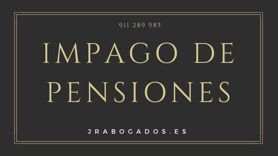 impago de pensiones madrid