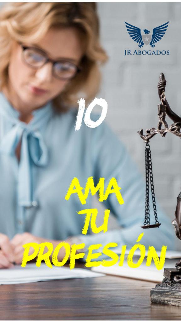 mandamiento 10 ama tu profesion