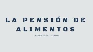 pension alimentos divorcio
