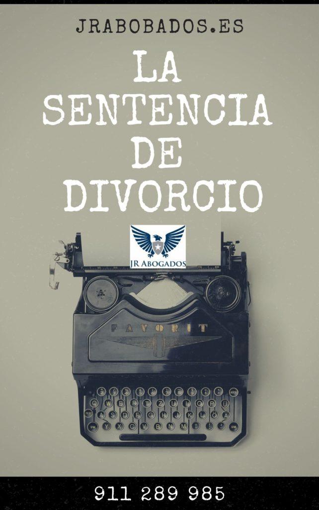 la sentencia de divorcio